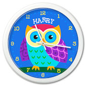 Olive Kids Owl Personalized Clock