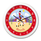 Olive Kids Ride Em Girl  Personalized Clock