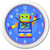 Olive Kids Robots  Personalized Clock