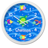 Olive Kids Somethin Fishy Personalized Clock