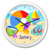 Olive Kids Summer Time Personalized Clock