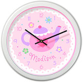 Olive Kids Tea Party Personalized Clock