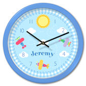 Olive Kids Up Up And Away Personalized Clock