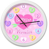 Olive Kids Valentines Day Personalized Clock
