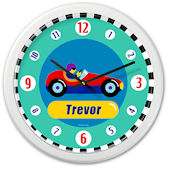 Olive Kids Vroom Personalized Clock