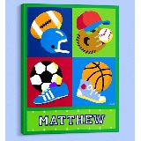 Game On Personalized Canvas Wall Art