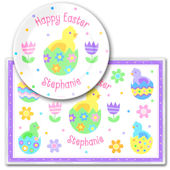 Olive Kids Easter Egg Meal Time Plate Set