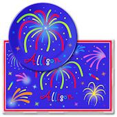 Olive Kids Fireworks Meal Time Plate Set