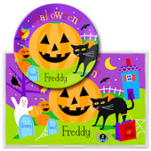 Olive Kids Halloween Meal Time Plate Set
