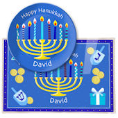 Olive Kids Hannukkah Meal Time Plate Set