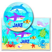 Olive Kids Ocean Meal Time Plate Set