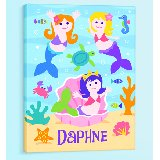 Mermaids Personalized Canvas Wall Art