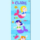 Mermaids Personalized Growth Chart