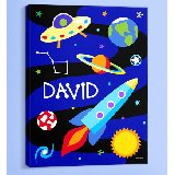 Out of This World Personalized Canvas Wall Art
