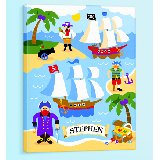 Pirates Personalized Canvas Wall Art