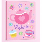 Tea Party Personalized Canvas Wall Art
