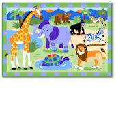 Olive Kids Wild Animals Rug