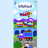 Trains Planes and Trucks Personalized Growth Chart