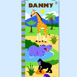Wild Animals Personalized Growth Chart