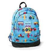 Olive Kids Trains Planes and Trucks Backpack