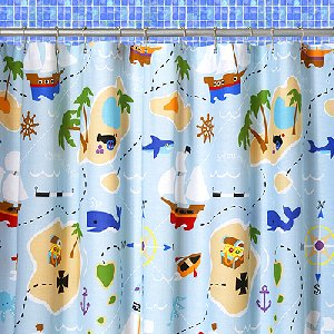 Pirate Treasure Cove Shower Curtain - JoJo Designs