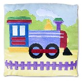 Trains Planes and Trucks Plush Pillow