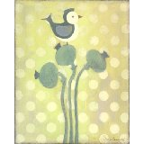 Love Bird Green Wall Art