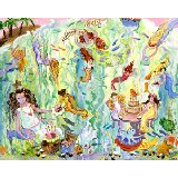 Mermaid Tea Party Wall Art