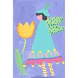 Aqua Petal Fairy Wall Art