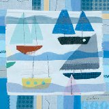 Blue Sail Boats Wall Art