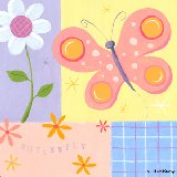 Butterfly Plaid Wall Art