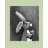 Charcoal Bunny Multiple Color Borders Wall Art