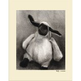 Charcoal Lamb Multiple Color Borders Wall Art