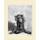 Charcoal Monkey Multiple Color Borders Wall Art