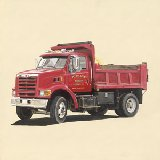 Classic Red Dump Truck Wall Art