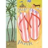 Flip Flops Wall Art Pink or Orange
