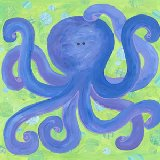 Indigo Octopus Wall Art