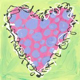 Peri and Pink Polka Dot Heart