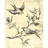 Toile Birdies In Flight