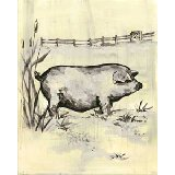 Toile Piggy Wall Art