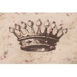 Vintage Crown in Chocolate Wall Art