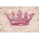 Vintage Crown in Pink Wall Art