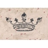 Vintage Crown in Charcoal Wall Art