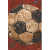 Vintage Soccerball Wall Art Multiple Colors
