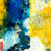 Blue and Yellow Line Series 15 Wall Art
