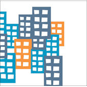 City Buildings Wall Art Multiple Colors