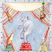 Vintage Circus Animals Wall Art