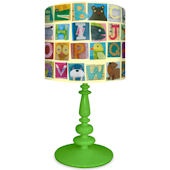 Oopsy Daisy Animal Alphabet Lamp Shade and Base