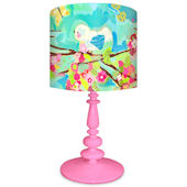 Oopsy Daisy Cherry Blossom Birdies Blue Lamp