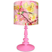 Oopsy Daisy Cherry Blossom Birdies Pink Lamp